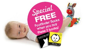 Book pack with free baby socks