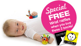 Book pack with free baby wrist rattles