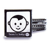 cloth baby book black and white