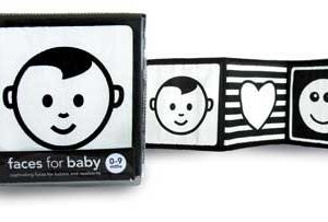 black and white baby cloth book
