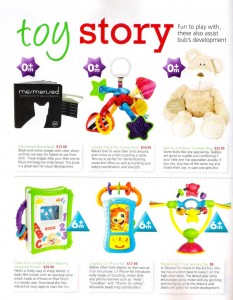 mother and baby magazine development toys