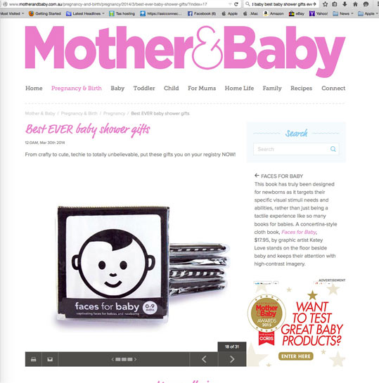 Best ever baby shower gifts black and white books for babies for Best website for gifts