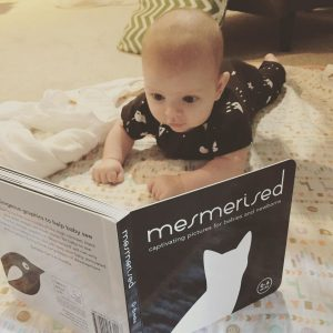 Baby tummy time reading