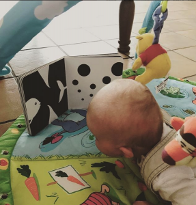 tummy time with Mesmerised book