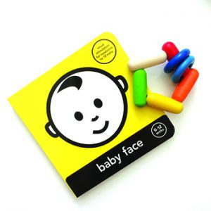 baby book and rattle for smart babies