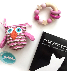 Rattle and book baby gift